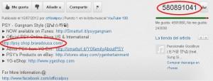 reproducciones de video de PSY - Gangnam Style (강남스타일)