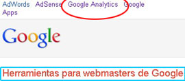 webmaster de google